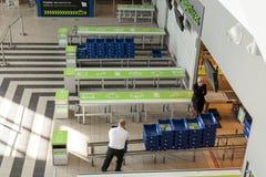 Intérieur d'aéroport international de Katowice - Pyrzowice, Pologne Images libres de droits