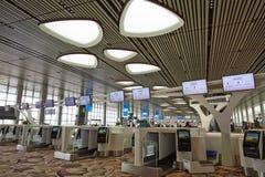 Intérieur d'aéroport international de Singapour Changi Photographie stock