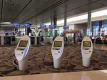 Intérieur d'aéroport international de Singapour Changi Photographie stock libre de droits