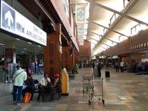 Intérieur d'aéroport international de Tribhuvan à Katmandou, Népal Image libre de droits