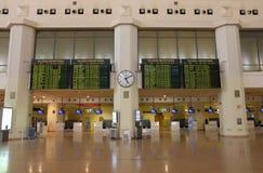 Intérieur d'aéroport - Malaga Photo libre de droits