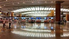 Intérieur d'aéroport Singapour de Changi Image libre de droits