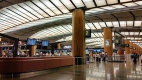 Intérieur d'aéroport Singapour de Changi Photo stock