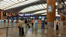 Intérieur d'aéroport Singapour de Changi Photographie stock