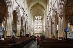 Intérieur d'abbaye de Bath Photos libres de droits