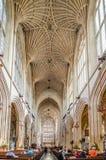 Intérieur d'abbaye de Bath Photographie stock