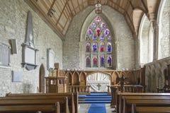 Intérieur d'abbaye médiévale de Leighlinbridge photographie stock libre de droits