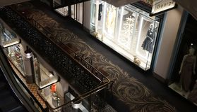 Intérieur d'afterhours de la Reine Victoria Building, vue d'en haut image stock