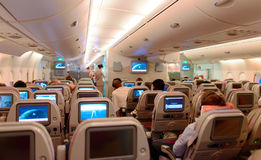 Intérieur d'Airbus A380 Photographie stock