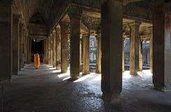 Intérieur d'Angkor Wat Image stock
