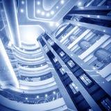 Intérieur d'architecture moderne : Ascenseur Photo stock