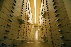 Intérieur d'archives de vintage Image stock