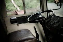 Intérieur d'autobus scolaire Image libre de droits