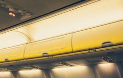 Intérieur d'avion Image stock