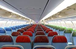 intérieur d'avion avec les sièges Photos libres de droits