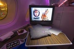 Intérieur d'avion de classe d'affaires d'A380 Boeing Photo stock