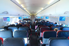 Intérieur d'avion Image libre de droits