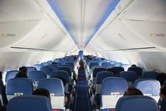 Intérieur d'avions image stock