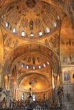Intérieur d'or de Basilica di San Marco image libre de droits