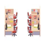 Intérieur d'entreprise vide d'espace de travail de bureau de compartiment illustration libre de droits
