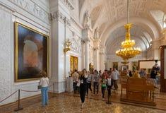 Intérieur d'ermitage d'état. St Petersbourg Images stock