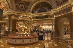 Intérieur d'hôtel de Palazzo à Las Vegas, nanovolt le 2 août 2013 Photos stock
