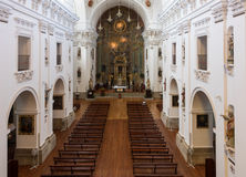 Intérieur d'Iglesia de San Ildefonso en Toledo Spain photos libres de droits