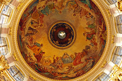 Intérieur d'Isaac Cathedral, St Petersbourg photo stock