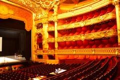 Intérieur d'opéra photo stock