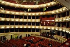 Intérieur d'opéra de Vienne Photo stock