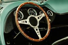 Intérieur d'un convertible classique de voiture de kit Image libre de droits