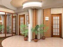 Intérieur d'un hall Images libres de droits