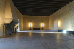 Intérieur d'un hall dans le château de Thun Images stock