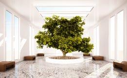 Intérieur d'un hall de reste et de relaxation Photo libre de droits
