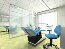 Intérieur d'un module stomatologic Images libres de droits