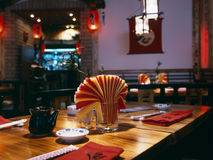 Intérieur d'un restaurant image libre de droits