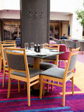 Intérieur d'un restaurant dans un hôtel, Photos stock