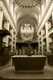 Intérieur d'une église Images libres de droits