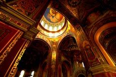 Intérieur d'une église orthodoxe, vue du dôme Photos libres de droits