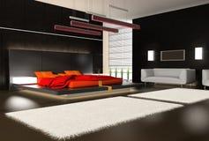 Intérieur d'une chambre à coucher illustration stock