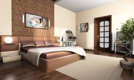 Intérieur d'une chambre à coucher images libres de droits