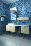 Intérieur d'une salle de bains illustration de vecteur