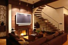 Intérieur d'une salle de séjour Image stock