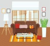 Intérieur d'une salle de séjour Image libre de droits