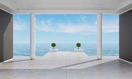 Intérieur d'une villa de vacances Images stock
