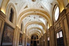 Intérieur d'université pontificale de Salamanque images libres de droits