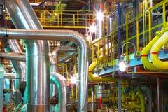 Intérieur d'usine chimique Photos libres de droits