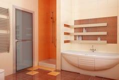 Intérieur de bahtroom d'Ogange Photographie stock