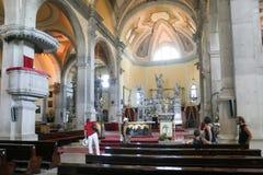Intérieur de basilique d'Euphemia de saint dans Rovinj Photo libre de droits