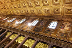 Intérieur de basilique Santa Maria Maggiore, Rome, Italie Images stock
